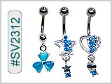SV2312, Navel Blue Stone Dangles THUMBNAIL