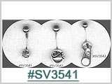 SV3541, Silver Design, Zipper