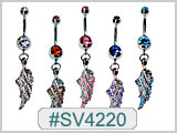 SV4220 Gem Navel with Gem Wing THUMBNAIL