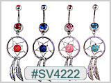 SV4222 Dream Catcher Gem Navel Dangle THUMBNAIL