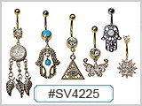 SV4225 Decorative Gold Plated Navel THUMBNAIL