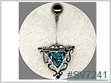 SV7241, Silver Filigree with Triangular Stone