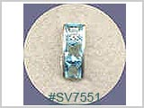 SV7554, Silver Design Square Gems THUMBNAIL