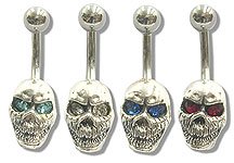 SV8440 Silver Skull with Eyes THUMBNAIL
