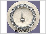 "SV8631, Silver ""O"" with Gems"