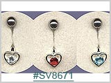 SV8671 Heart with Gem THUMBNAIL