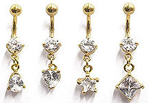 SV8680 Gold Plated Navel Dangles