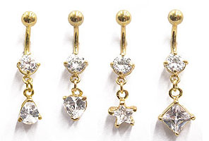 SV8680 Gold Plated Navel Dangles MAIN