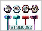 TSB0092 Titanium Colored Barbells with Gem THUMBNAIL