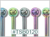 TSB0120 TSB0200 Titanium Colored Barbells THUMBNAIL