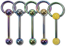 TSB0611 Titanium Coated Hoop Barbell THUMBNAIL