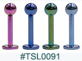 TSL0091, 16G 5/16 Titanium Colored Labret