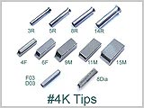 4KTIPS, Replacement tips for #4K S/S Tubes