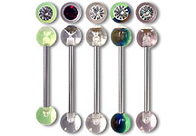 UVB0600 UV Gem Ball Barbells THUMBNAIL