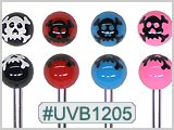 UVB1205, Skull/Crossbones Ball 14G BB THUMBNAIL