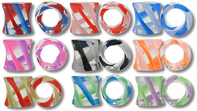 UVP1029 Illusion Stripe Acrylic Plugs MAIN