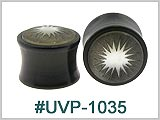 UVP1035 Black Starburst Plugs THUMBNAIL