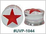 UVP1044, Clear Plastic Plugs with Red Star