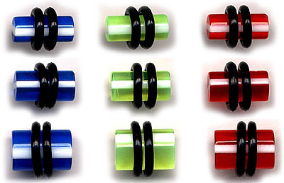UVP1101 Stripes UV Plugs Pairs MAIN