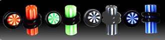 UVP1810 Stripe UV Plugs Pairs MAIN