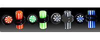 UVP1810 Stripe UV Plugs Pairs THUMBNAIL