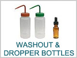 Bottles, Washout, Dropper