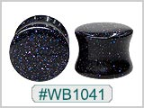 WB1041, Deep Blue Shimmering Sparkle Ear Plugs