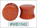 WB1042, Brown Shimmering Sparkle Ear PlugsEar Plugs