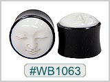 WB1063, Carved Face Horn Plugs