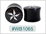 WB1065, Glitter Nautical Star Horn Plugs