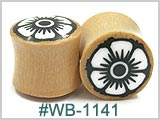 WB1141 Wood Plugs Flower Insert THUMBNAIL
