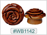 WB1142 Wood Rose Plugs THUMBNAIL