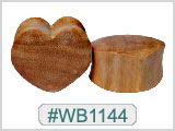 WB1144 Wood Solid Heart Plugs THUMBNAIL