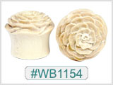 WB1154 Crocodile Wood Flower Plugs THUMBNAIL