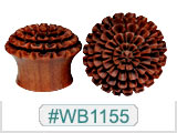 WB1155 Blood Wood Mountain Flower Plugs THUMBNAIL
