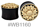 WB1160, Carved Flower Plug THUMBNAIL