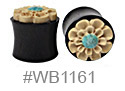 WB1161, Blue Center Flower Plug THUMBNAIL