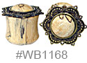 WB1168, Blonde Ornate Shield Plug THUMBNAIL