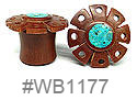 WB1177, Turquoise Color Center Shield