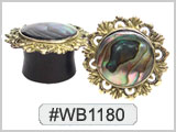 #WB1180, Abalone Shell Ear plug