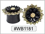 #WB1181, Flower Gold Plated Motif
