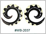 WB2037, Black Wood Spirals with Inlay