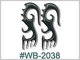 WB2038 Hand Carved Ear Designs