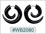 WB2080, Horn Spiral for 14G Holes Ear Gauges THUMBNAIL