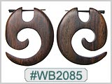WB2085 Wood Earrings - Pair