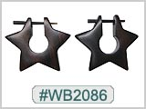 WB2086 Wood Earrings - Pair THUMBNAIL