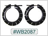 WB2087 Wood Earrings - Pair_THUMBNAIL