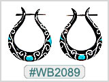 WB2089 Horn Pin Earring - Pair