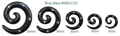 Spiral Ear Shapes Stars Gauges