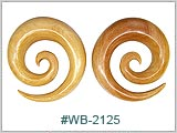 WB2125, Natural Blonde Wood Spirals